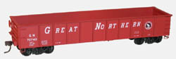 Accurail AAR 41' Steel Gondola 3pk Great Northern (red), LIST PRICE $45.98