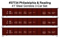 Accurail HO 41.6 AAR StlGon Phil&Read, DUE 6/30/2018, LIST PRICE $52.98