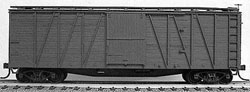 Accurail 40' Wood OB Box_ Undecorated, LIST PRICE $17.98
