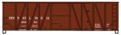 Accurail HO KIT 40' Single Sheath Wood Box, PRR/Early, LIST PRICE $17.98