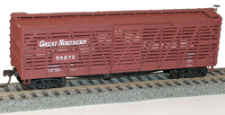 Accurail HO Kit 40' Wood Stock Car GN, LIST PRICE $16.98