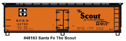 Accurail HO 40ft USRA Wood Dbl Shth Box, SF/The Scout, DUE 7/31/2019, LIST PRICE $19.98