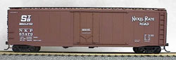 Accurail 50' AAR PD RIC BOXCAR NKP MINERAL RED, LIST PRICE $16.98