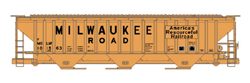 Accurail HO Kit PS-4750 3-Bay Covered Hopper, MILW, LIST PRICE $19.98