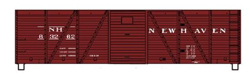 Accurail HO KIT 40' Wood OB Box w/Steel Ends, NH, LIST PRICE $16.98