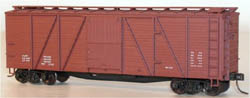 Accurail HO KIT 40' Wood Box, Data/Red, LIST PRICE $16.98