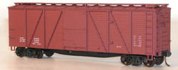 Accurail HO KIT 40' Wood Box, Data/Oxide, LIST PRICE $16.98