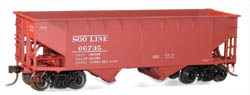 Accurail HO KIT Offset-side Twin Hopper, SOO, LIST PRICE $16.98