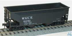 Accurail HO KIT Offset-side Twin Hopper, W&LE, LIST PRICE $16.98