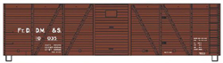 Accurail HO 40ft Wood Box FtD DM & S, LIST PRICE $17.98