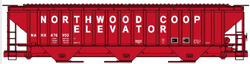 Accurail HO SP4750 Covered Hopper, Northwood Co-Op, DUE 7/31/2019, LIST PRICE $20.98