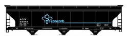 Accurail HO ACF Covered Hopper Cancarb Carbon Black , DUE 8/31/2019, LIST PRICE $19.98