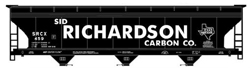 Accurail HO ACF Covered Hopper Sid Richardson Carbon Co.  Black , DUE 9/1/2019, LIST PRICE $19.98