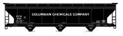 Accurail HO ACF Covered Hopper Columbian Chemicals Company, DUE 9/2/2019, LIST PRICE $19.98