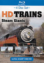 Auran A HD Trains Blu Ray Disc Steam Giants 4 hours, LIST PRICE $34.99