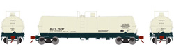 Athearn HO 16000 gal Tank ACFX 76247, DUE 10/30/2019, LIST PRICE $35.98