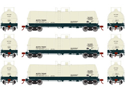 Athearn HO 16000 gal Tank ACFX 3pk, DUE 10/30/2019, LIST PRICE $99.98