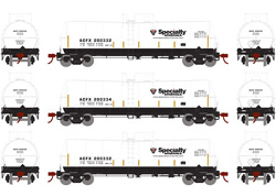 Athearn HO 16000 gal Tank Specialty Mineral 3pk, LIST PRICE $99.98