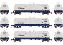 Athearn HO 16000 gal Tank Union Tank UTLX 3pk, DUE 10/30/2019, LIST PRICE $99.98