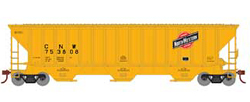 Athearn HO PS4740 Cvrd Hpr C&NW gry 753808, DUE 11/30/2019, LIST PRICE $31.98