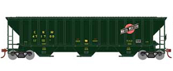 Athearn HO PS4740 Cvrd Hpr C&NW grn 471700, DUE 11/30/2019, LIST PRICE $31.98