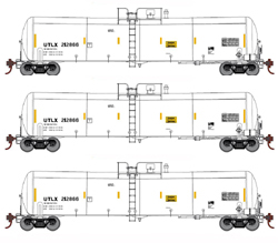 Athearn HO 30K Ethanol Tank Union Tank UTLX White 3 pk, DUE 11/30/2018, LIST PRICE $119.98
