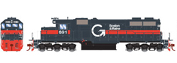 Athearn HO SD39 Guilford B&M #691, LIST PRICE $134.98