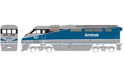 Athearn HO RTR F59PHI  Amtrak #451, DUE 2/15/2020, LIST PRICE $149.98