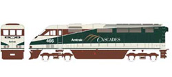 Athearn HO RTR F59PHI  Amtrak #466, LIST PRICE $149.98