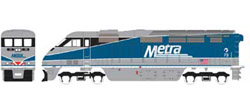 Athearn HO RTR F59PHI  METX #73, DUE 2/15/2020, LIST PRICE $149.98