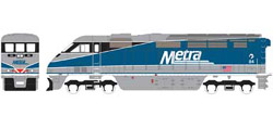 Athearn HO RTR F59PHI  METX #84, DUE 2/15/2020, LIST PRICE $149.98