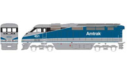 Athearn HO RTR F59PHI w/DCC & Sound  Amtrak #451, DUE 2/15/2020, LIST PRICE $219.98