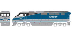 Athearn HO RTR F59PHI w/DCC & Sound  Amtrak #457, DUE 2/15/2020, LIST PRICE $219.98