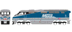 Athearn HO RTR F59PHI w/DCC & Sound  METX #73, DUE 2/15/2020, LIST PRICE $219.98