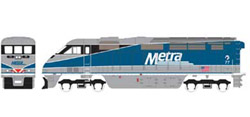 Athearn HO RTR F59PHI w/DCC & Sound  METX #77, DUE 2/15/2020, LIST PRICE $219.98
