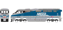 Athearn HO RTR F59PHI w/DCC & Sound  METX #84, DUE 2/15/2020, LIST PRICE $219.98