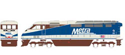 Athearn HO RTR F59PHI w/DCC & Sound  METX #90, DUE 2/15/2020, LIST PRICE $219.98