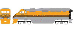 Athearn HO RTR F59PHI w/DCC & Sound  DRGW #5800, DUE 2/15/2020, LIST PRICE $219.98