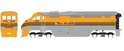 Athearn HO RTR F59PHI w/DCC & Sound  DRGW #5817, DUE 2/15/2020, LIST PRICE $219.98