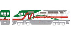 Athearn HO RTR F59PHI w/DCC & Sound  PNR Christmas #1224, DUE 2/15/2020, LIST PRICE $219.98