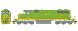 Athearn HO SD39 IT 2305, DUE 7/30/2019, LIST PRICE $149.98