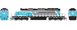 Athearn HO SD40-2 NS Maersk Sealand 3329, LIST PRICE $149.98