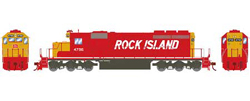 Athearn HO SD40-2 Rock Island 4796, DUE 2/28/2018, LIST PRICE $149.98
