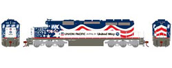 Athearn HO RTR SD40/DCC/SND, UP/United Way #3300, LIST PRICE $209.98