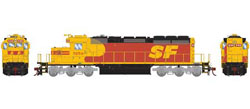 Athearn HO RTR SD40-2 w/DCC & Sound, SF #5159, DUE 3/20/2019, LIST PRICE $209.98