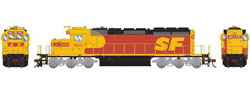 Athearn HO RTR SD40-2 w/DCC & Sound, SF #5161, DUE 3/20/2019, LIST PRICE $209.98