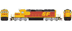 Athearn HO RTR SD40-2 w/DCC & Sound, SF #5182, DUE 3/20/2019, LIST PRICE $209.98