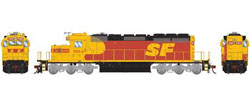 Athearn HO RTR SD40-2 w/DCC & Sound, SF #5184, DUE 3/20/2019, LIST PRICE $209.98