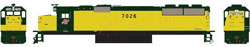 Athearn HO RTR SD50 C&NW/Zito Yellow #7026, LIST PRICE $129.98