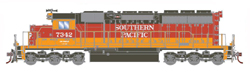 Athearn HO SD40 SP Daylght #7342, LIST PRICE $139.98